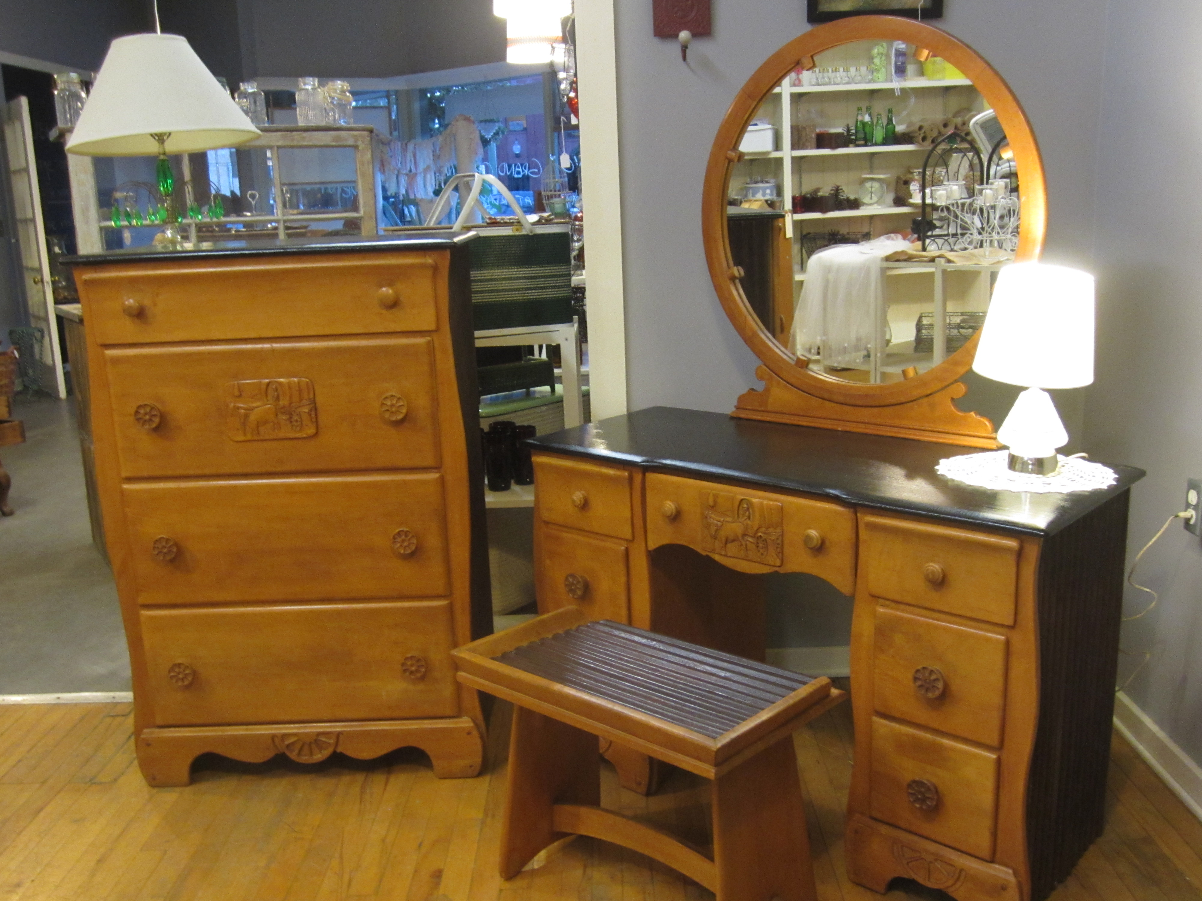 The ultimate cowgirl accessory a dresser and vanity set